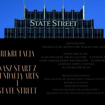 Nasz start z Fundacją ARTS i STATE STREET – ruszyła rekrutacja.